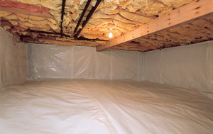 CleanSpace® vapor barrier after in St. Albert