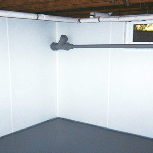 Basement wall covering